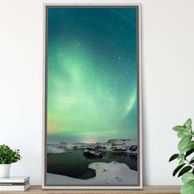 Aurora over lake